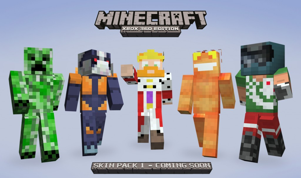 Xbox 360 Minecraft Default Skins as the 8 default skins to